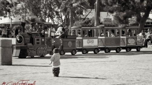 El niño y su tren